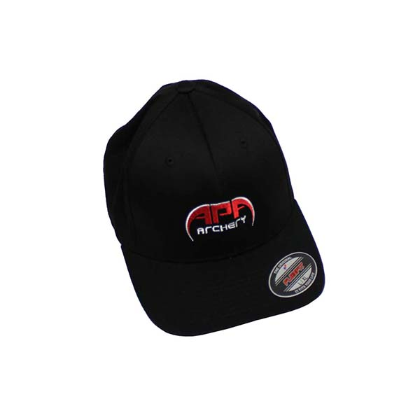 APA Black Hat Red Logo Flex Fit