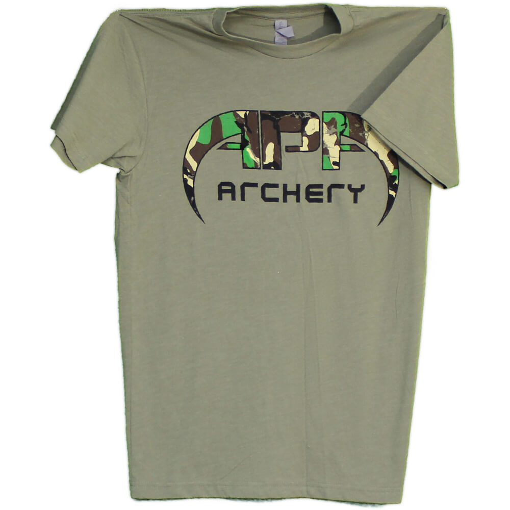 APA T-Shirt - Green Camo Logo