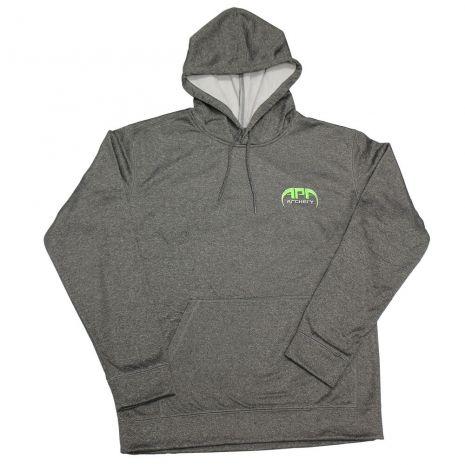 APA Grey Hoodie Green Logo
